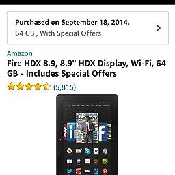 amazon com fire hdx 8 9 tablet 8 9 hdx display wi fi 64 gb