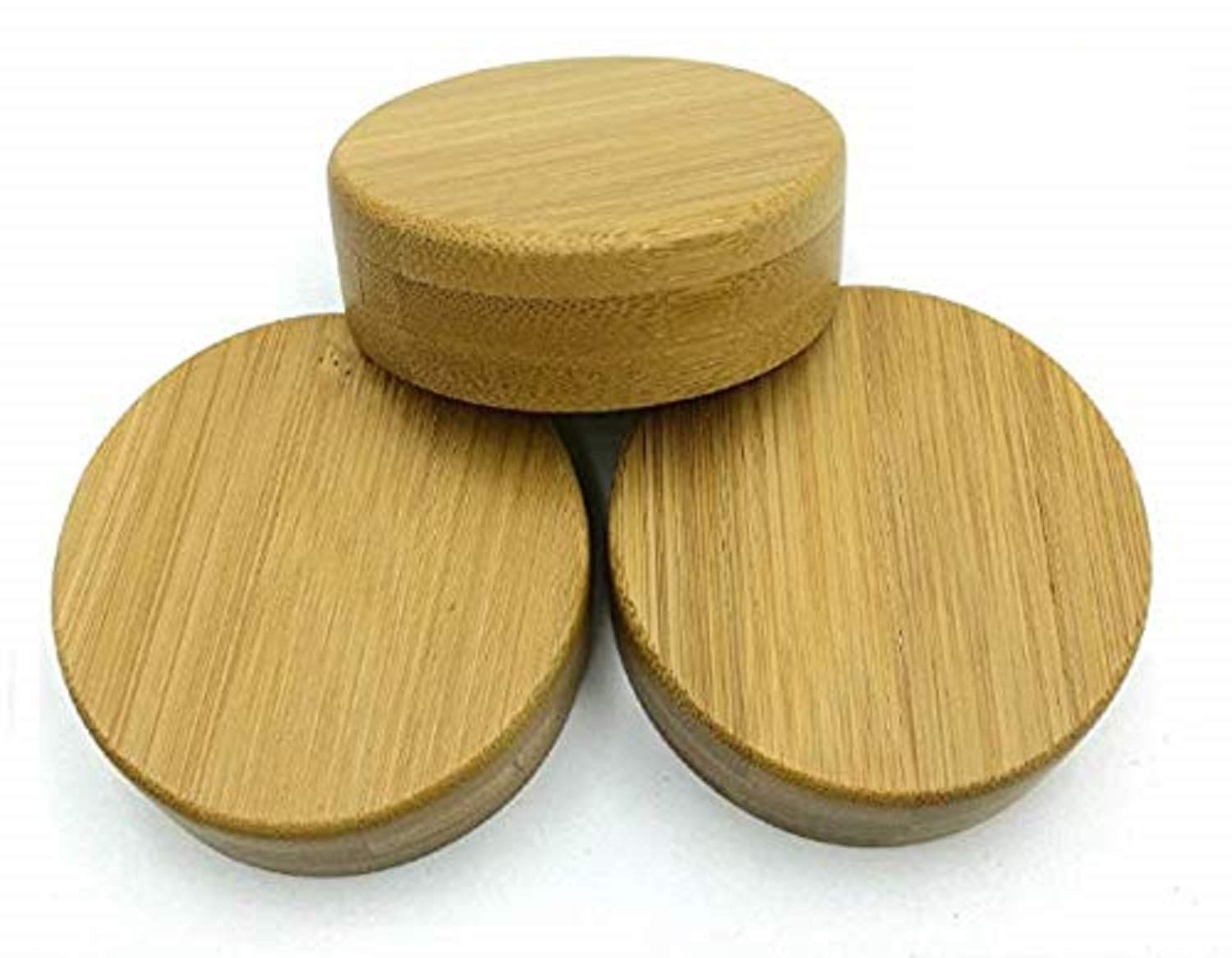THINKCHANCES Natural Color Decorative Bamboo Lids for Mason, Ball, Canning Jars (3 Pack, Wide Mouth)