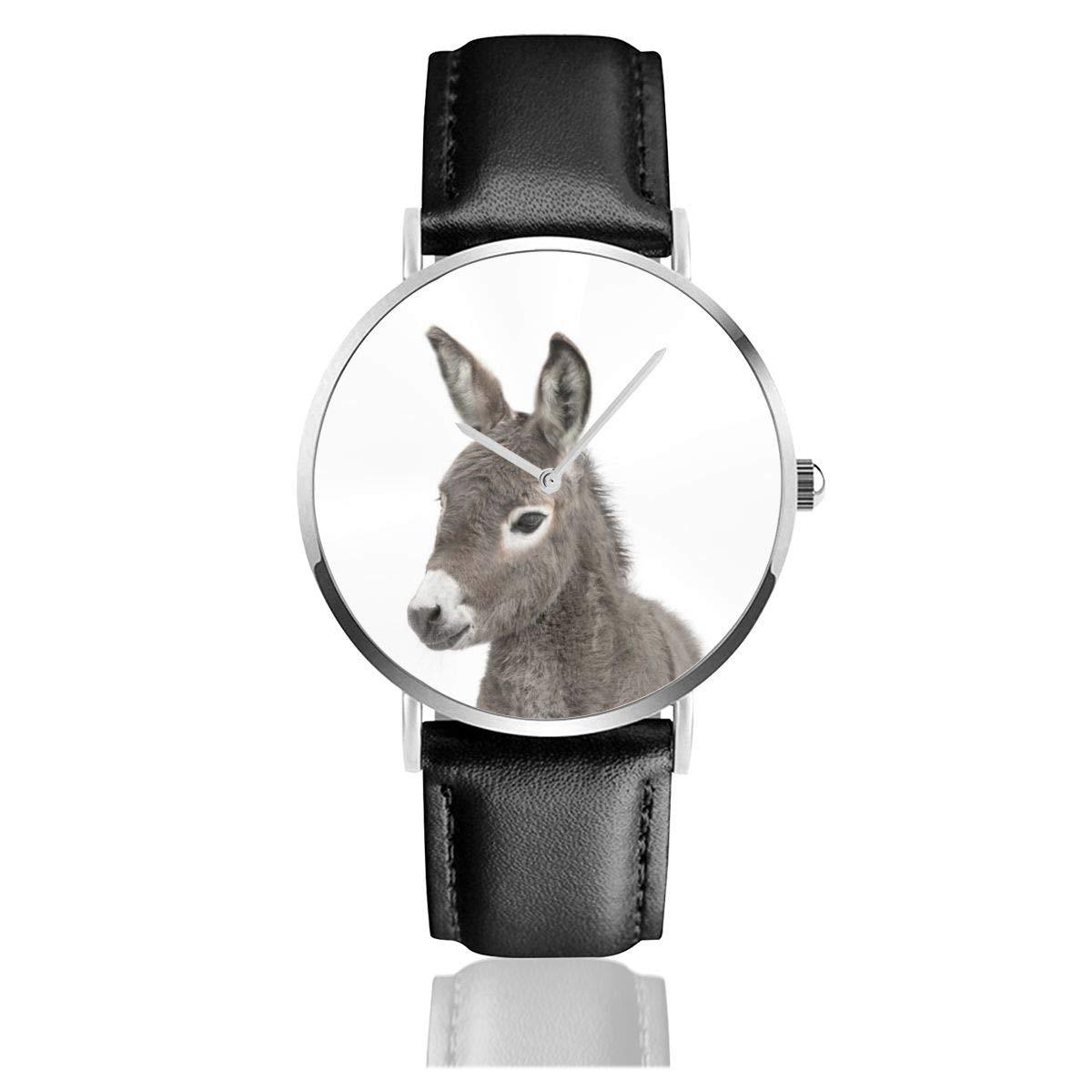 Baby Donkey - Reloj clásico de Acero Inoxidable con Correa ...
