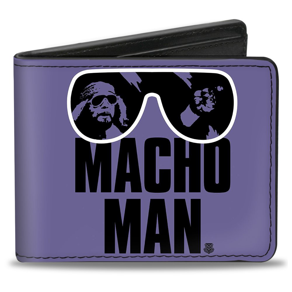a5773a4f3a66 Amazon.com: Bi-Fold Wallet - MACHO MAN Randy Savage Sunglasses Pose ...