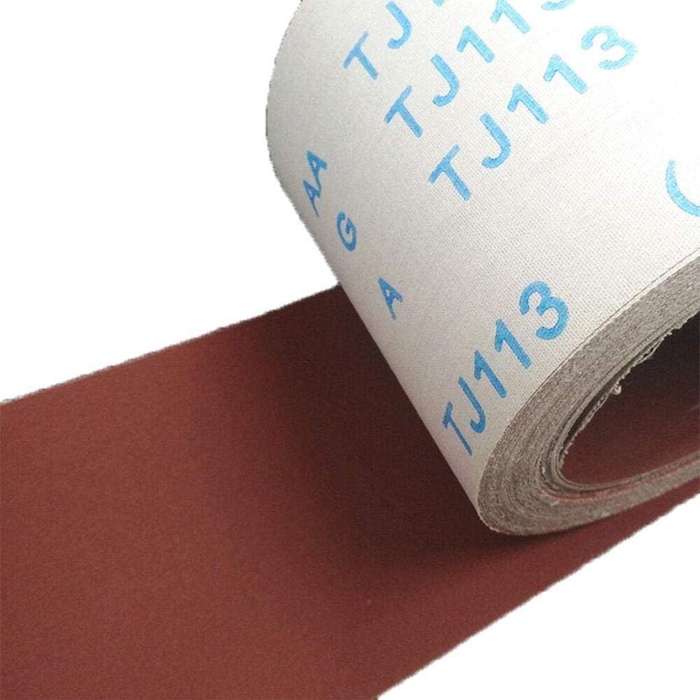 TINGB Panno di smeriglio 1 Metro 80 Grana Rotolo di Panno di smeriglio Panno Flessibile abrasivo Carta abrasiva Levigatura Strumenti di lucidatura per superfici Curve Sagomate