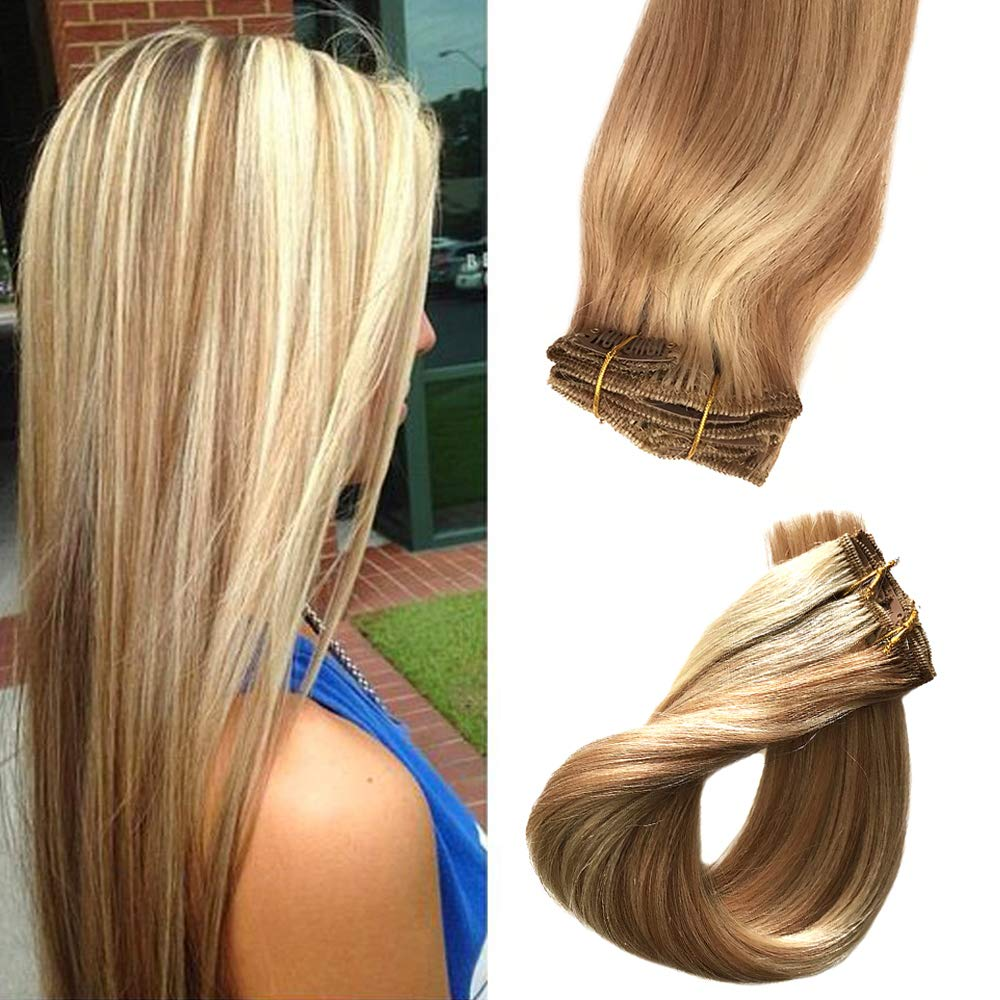 Amazon Clip In Hair Extensions With Highlights 7 Pieces 70g