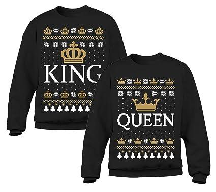 Cadeau De Noel Pour Couple.Queen Et King Set Cadeau Pour Couple Anniversiare De Mariage