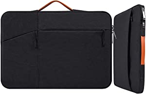"""17.3 Inch Waterproof Laptop Bag Sleeve for Men Women Briefcase for New HP Envy 17.3, Dell Inspiron 17/Dell G3 G7 17.3, 2019 Lenovo 330 L340 17.3, ASUS TUF 17.3, MSI GS75 GL75 GF75 17.3"""" Case, Black"""