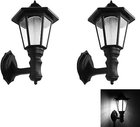 1//2pc Solar Vintage Outdoor LED Wall Light Lamp Sconce Garden Lantern PorchLight