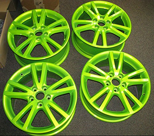 neon green car paint - 5