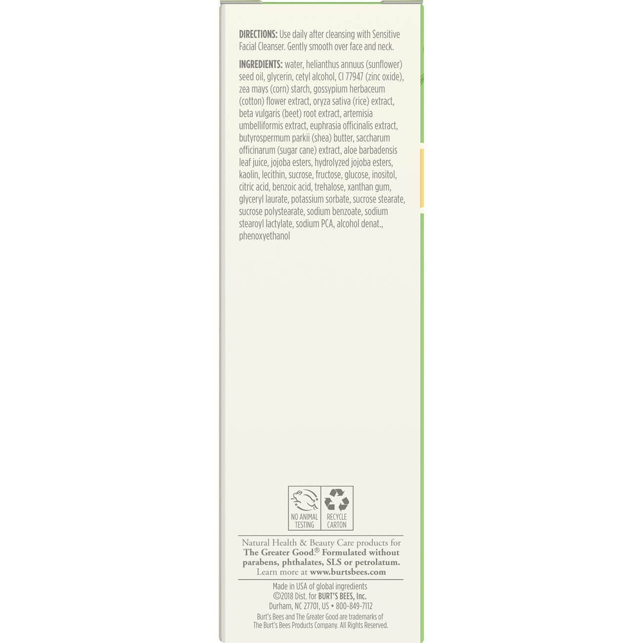 Burt's Bees Daily Face Moisturizer for Sensitive Skin, 1.8 Ounces by Burt's Bees (Image #4)