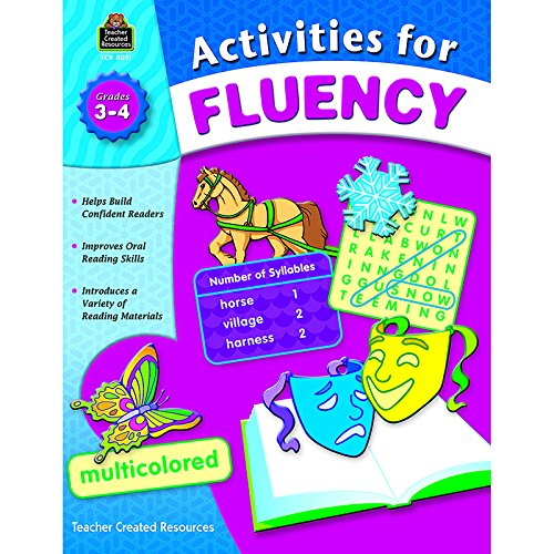 Teacher Created Resources Activities for Fluency for Grades 3 to 4, 144 Pages (TCR8051)