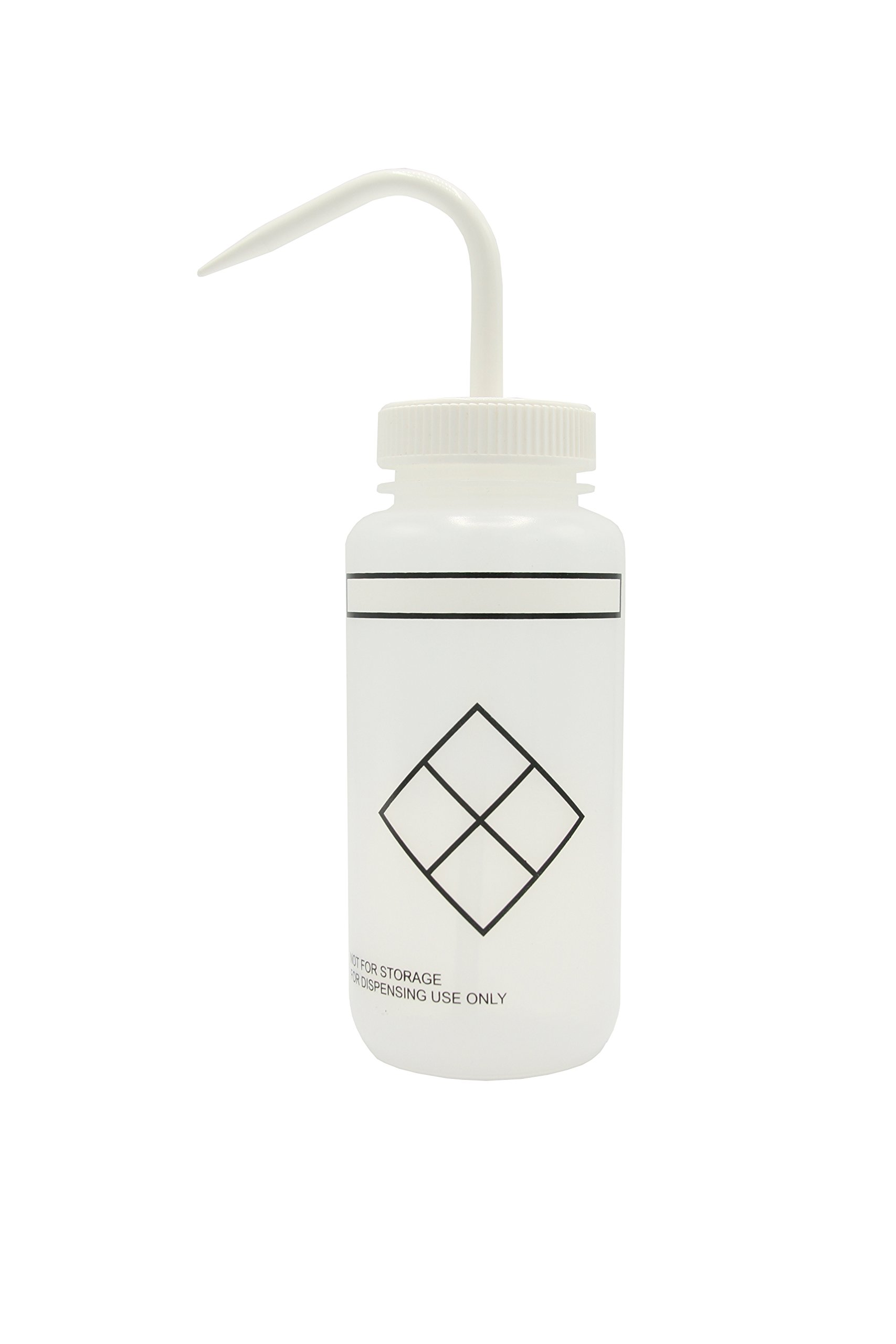 Heathrow Scientific HS120256 Wash Bottles, Safety Labelled, Self Venting, Wide Mouth, Self Labelling, 500 ml (Pack of 6)