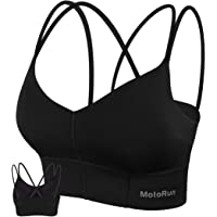 Galeap Womens Push-up Padded Strappy Sports Bra Cross Back Wirefree Fitness Yoga Top