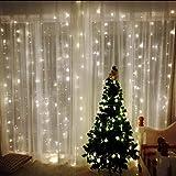 Junshion Led Light, 300 LED Cortina de ventana Luz de cadena para el banquete de boda Dormitorio del jardín casero Decoraciones de la pared interior al aire libre
