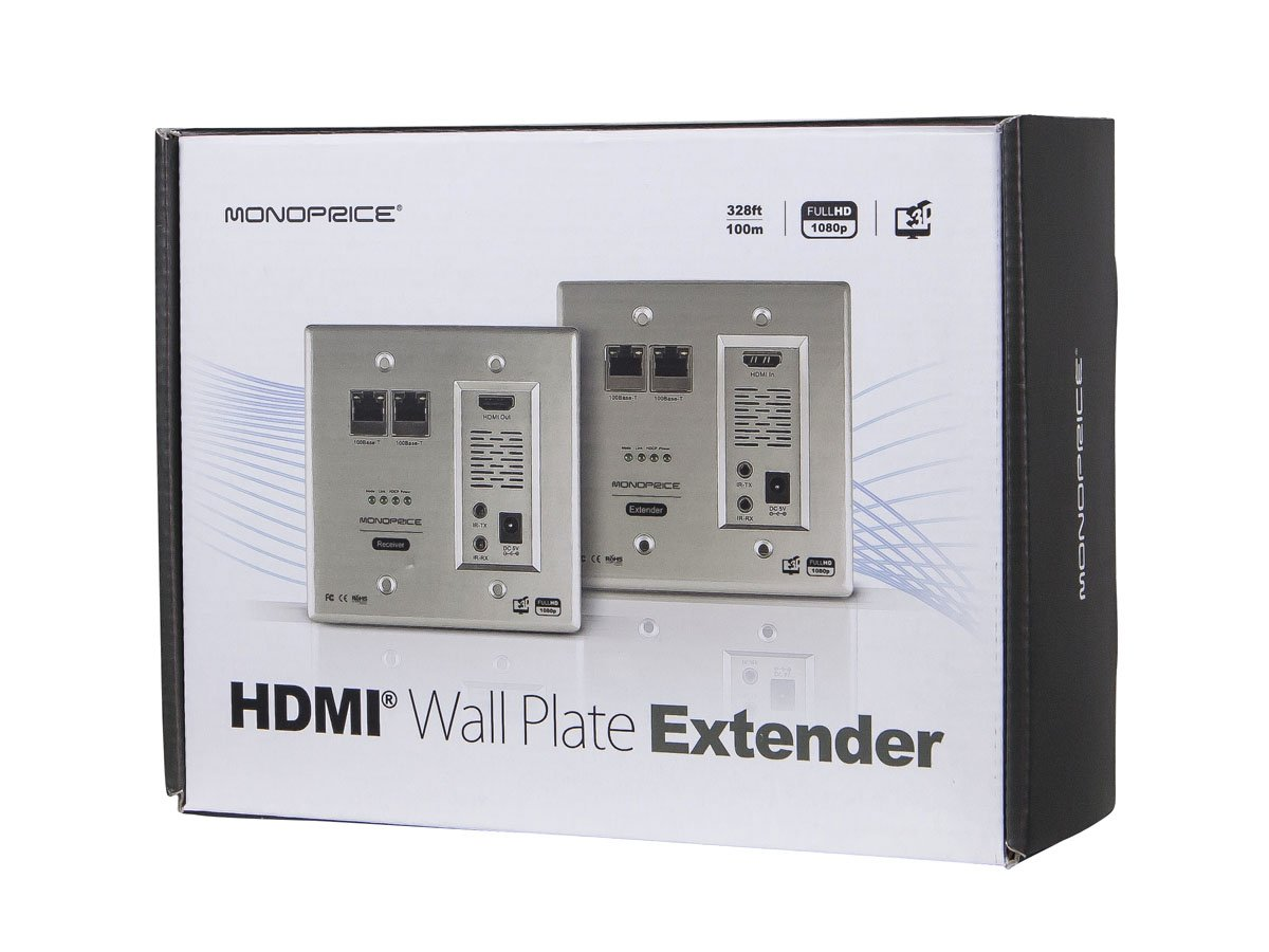 Monoprice 110224 Hdbaset Wall Plate Extender Kit Home Amazoncom Pyle Pvcs5 Inwall A B Speaker Source Switch Audio Theater