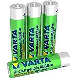 Varta - 56703101404 - Lot de 4 piles alcaline type hr03 1.2 volts rechargeables