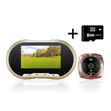 L. Hong 4.3 LCD digital video Puerta Ojo Visor mirilla PIR detección de movimiento cámara