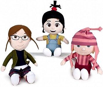 WHITEHOUSE LEISURE Pack 3 Peluches Niñas Minions: Agnes + Edith + ...