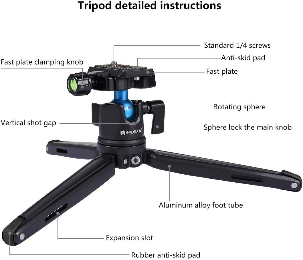 11-21cm Camera /& Photo Products Pocket Mini Metal Desktop Tripod Mount with 360 Degree Ball Head for DSLR /& Digital Cameras Color : Color2 Adjustable Height