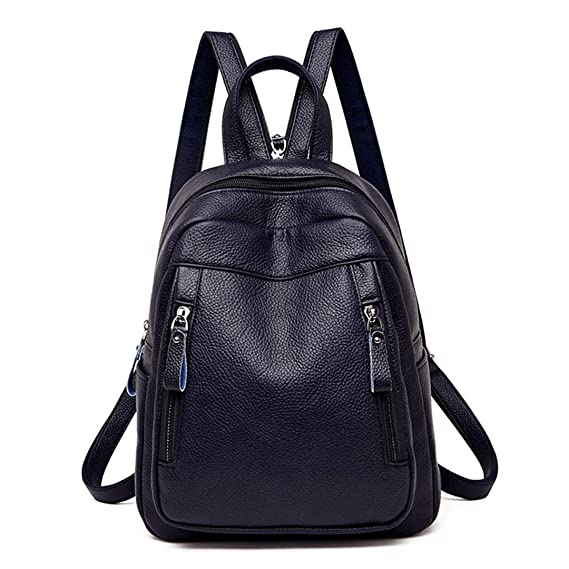 Amazon.com | Female Backpack Mochila Feminina Women Leather Backpack Travel Shoulder Bag Ladies Bagpack Casual Daypacks Gray backpacks | Casual Daypacks