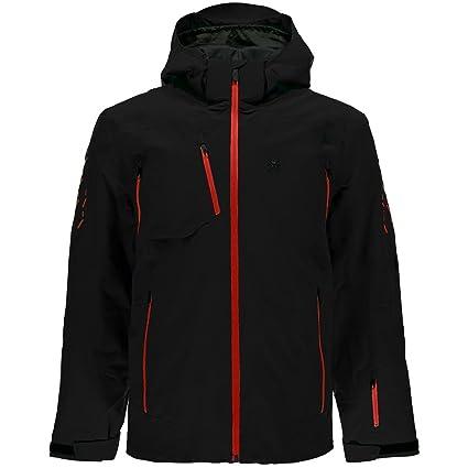 Spyder Mens Pinnacle Jacket Chaqueta de esquí (/BLK/Red ...