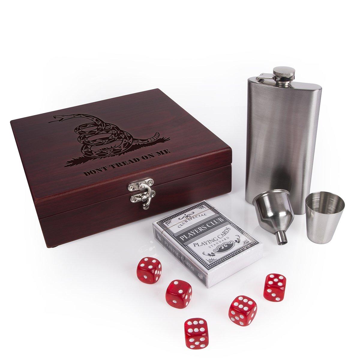 最上の品質な ないTread On MeフラスコセットボックスPlayingカード&カジノスタイルRolling Dices | Las B07DXBQ7K1 Vegas ないTread Gambler Las # t7 6 マルチ B07DXBQ7K1, 仙北町:96388c4c --- a0267596.xsph.ru