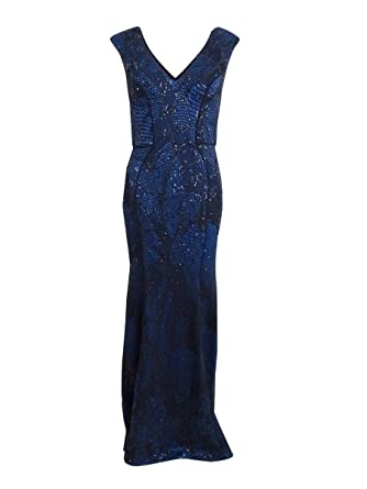 f55501bb Image Unavailable. Image not available for. Color: Xscape Women's Sequin Lace  V-Neck Gown ...
