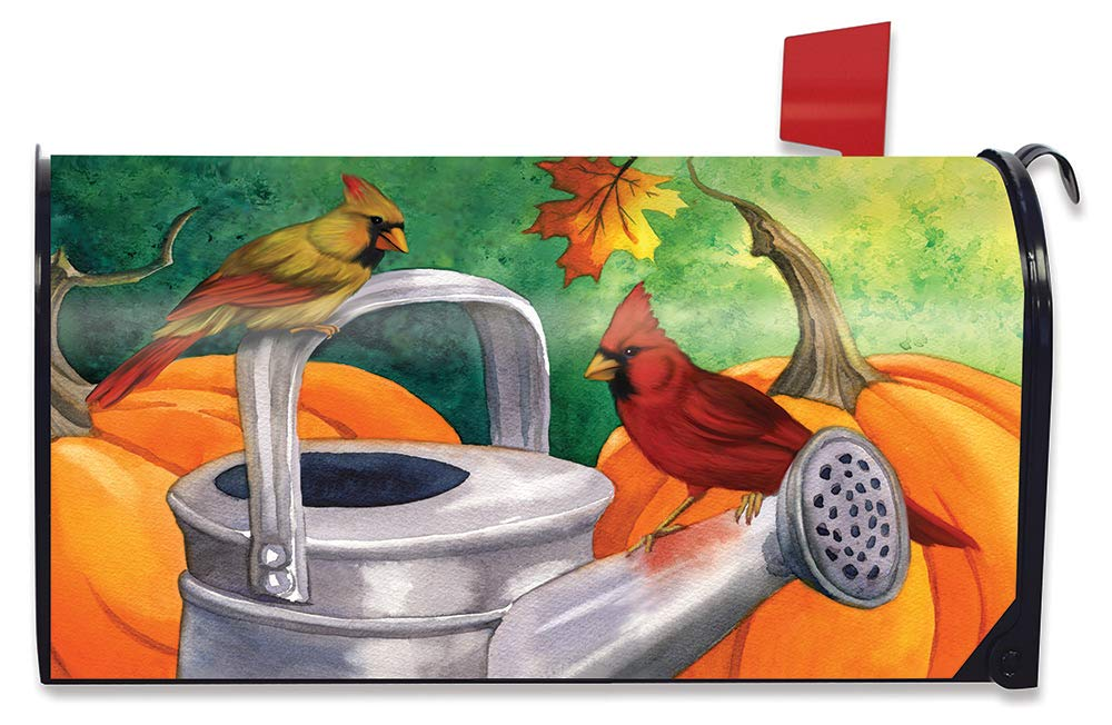 Briarwood Lane Fall Watering Can Magnetic Mailbox Cover Autumn Pumpkins Apples Standard