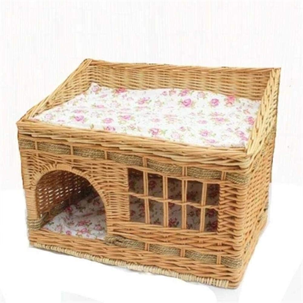 Cat Litter Rattan Teddy Small Dog Kennel Liubian Cat Delivery Room Pet Nest Supplies Removable and Washable