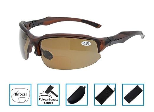 82ae4211c5e0 Half-Rimless Frame Bifocal Reading Sunglasses Sun Readers Tinted Glasses  Mens Womens Wraparound Designer Style