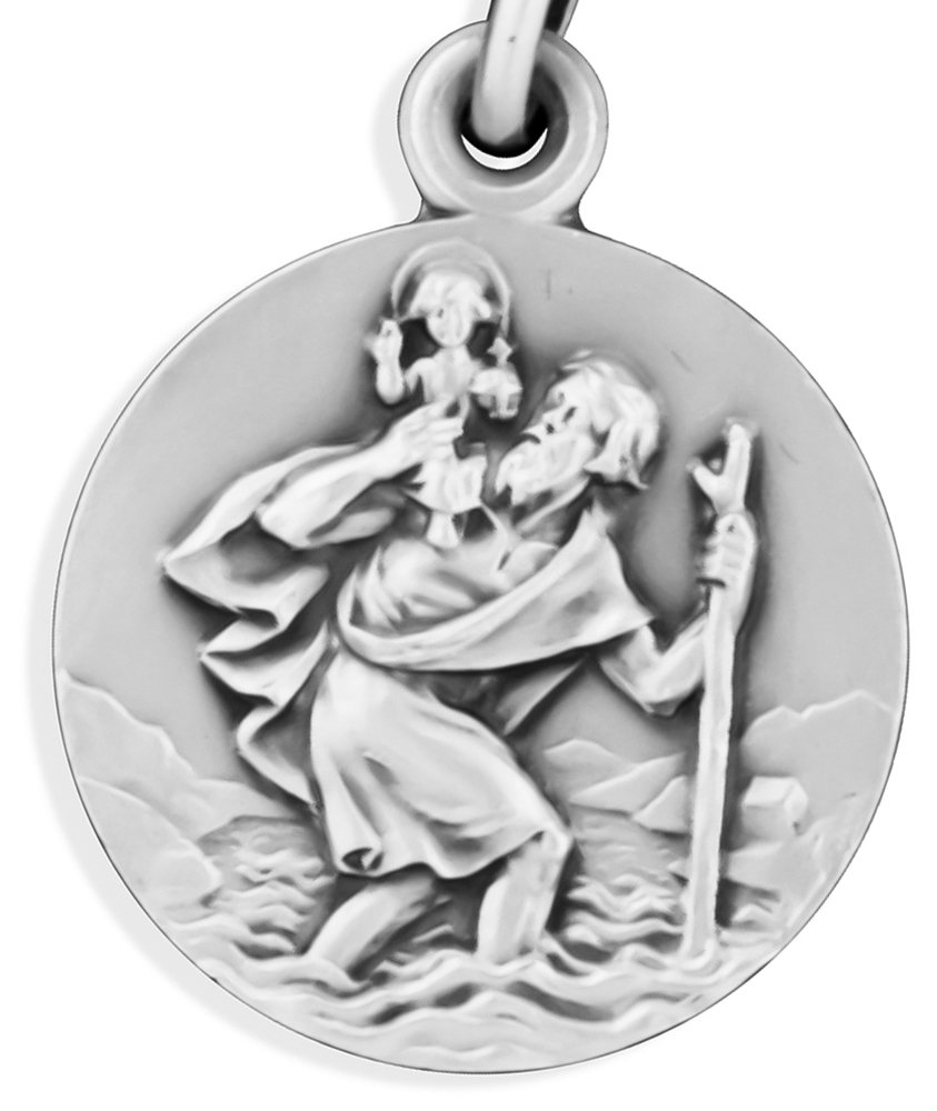 Traditional Saint Christopher Medal by Glorieux (18'' Chain)