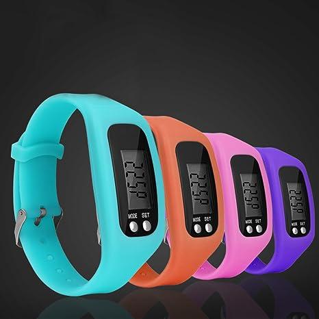 Tookie Reloj de Pulsera con Podómetro LCD, Unisex, para Correr o Caminar, Contador