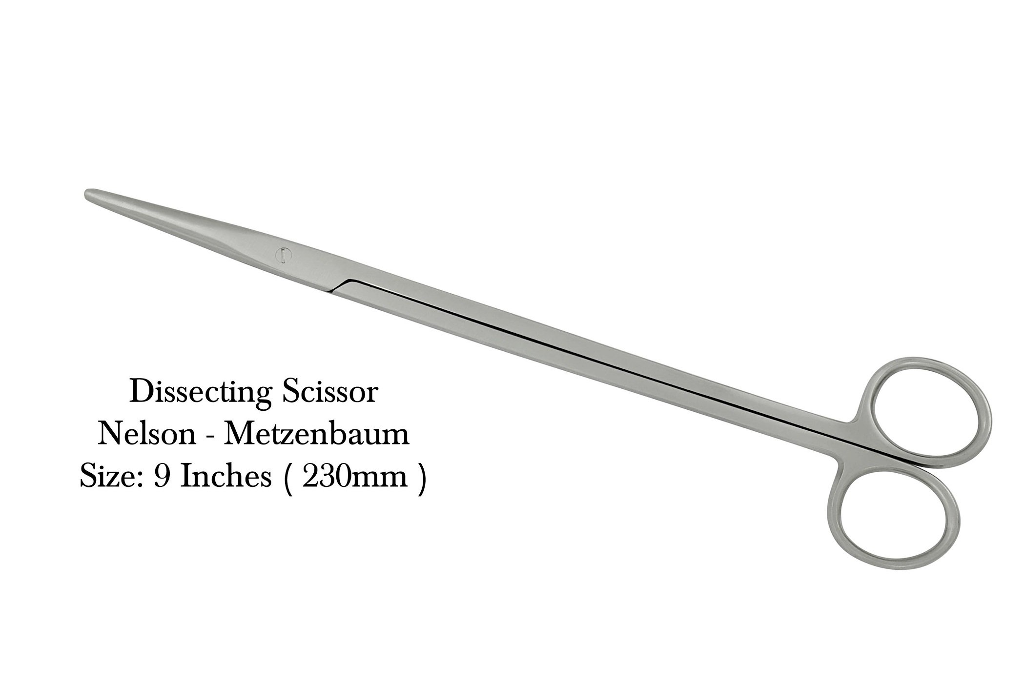 Metzenbaum-Nelson Dissection Scissors Surgical Sharp/Blunt