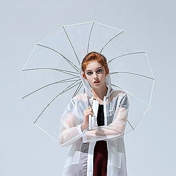 MOMO Paraguas Transparente más Grueso Pareja Fresca de Mujeres Nuevo Estudiante Paraguas de Lluvia Creativa para