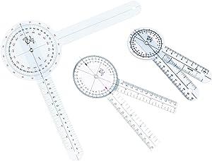 "EMI Goniometer 3 Piece Set 12"", 8"", 6"" Plus Carrying Case EGM-429"