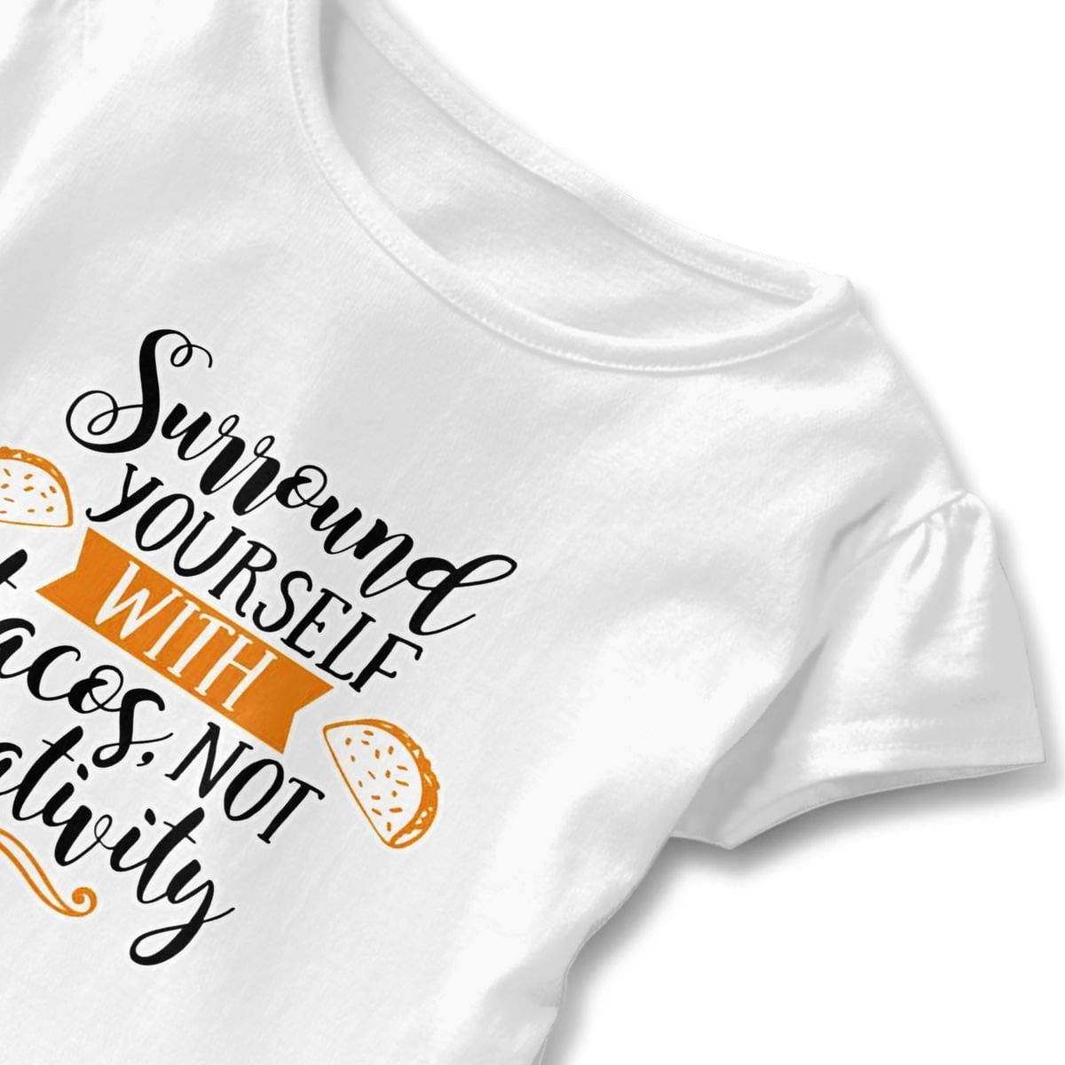 NMDJC CCQ Surround Yourself with Tacos Baby Skirts Cute Kids T Shirt Dress Cotton Flounces Costume