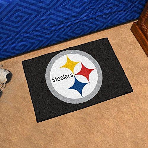 Fanmats NFL 20 x 30 in. Starter Mat (Spirit Pittsburgh Steelers Football Rug)