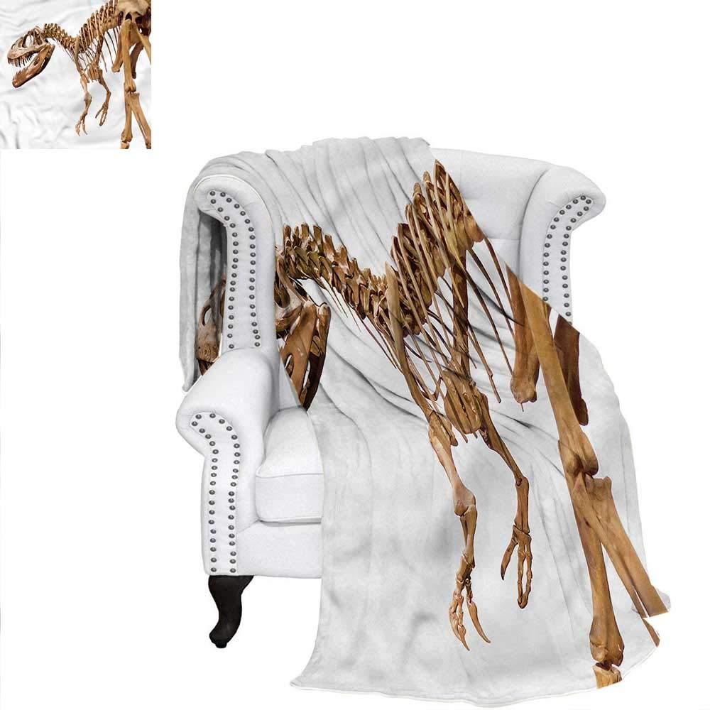RenteriaDecor 恐竜スローブランケット 古代の動物 森の織り模様 ブランケット 70