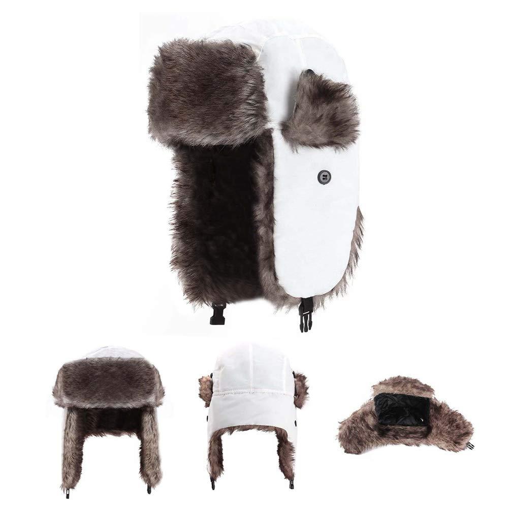 FuYouTa Winter Warmer Trapper Hut Winter Hut Ohrensch/ützer Trapper Warm Fellm/ütze warme Baumwolle Trapperm/ütze Bomber Hut Unisex Fliegerm/ütze Fellm/ütze Erwachsenen f/ür Herren