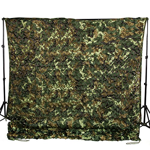 Ginsco 6.5ft x 20ft 2mx6m Woodland Camouflage Netting Desert Camo Net for Camping Military Hunting Shooting Blind Watching Hide Party Decorations (6.5x20ft (2Mx6M))