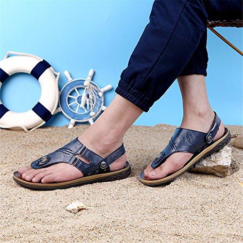 in Sandali schienale da classico scarpe pelle da Infradito 44 senza da Navy Color spiaggia Juan uomo Pantofole vera Scarpe EU Size da shoes antiscivolo uomo Navy regolabili Infradito ATAwP1nq