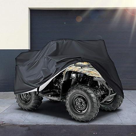 Volwco ATV Quad copertura mimetica 190T universale protezione da tutte le condizioni atmosferiche impermeabile Quad Bicicletta ATV protezione memoria invernale resistente alla polvere protezione UV