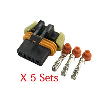 Amazon.com: 5 Sets 3 Pin Automotive Connectors Plastic Harness ... on generator connector plugs, 4 pin wire connector plugs, trailer wiring harness plugs, control box connector plugs, waterproof 12 volt quick disconnect plugs, wiring a plug, waterproof connector plugs,