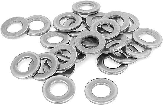 sourcingmap/® 20Stk Silber Ton 316 Edelstahl Flach Unterlegscheiben 3//4 f/ür Schrauben DE de