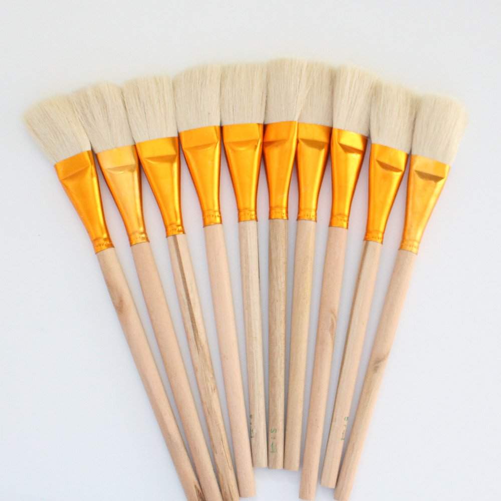 10 pcs white Wool Brush,sweep gold leaves,Good quality wool brush,soft, a good tool for gilding leaves, YongBo