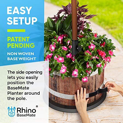 Rhino Basemate The Original Patio Umbrella Base Weight Planter