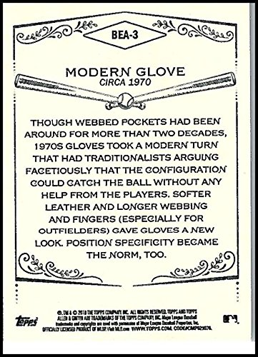 2018 Allen and Ginter Baseball Equipment of the Ages #BEA-3 Modern Glove Baseball Card