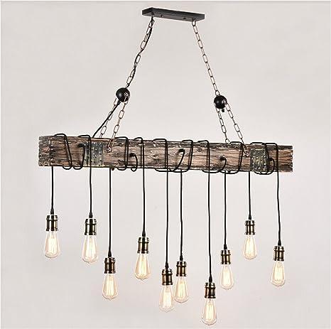 adjustable lighting fixtures. Ladiqi Retro Rustic 10-Lights Wooden Island Chandelier Multiple Adjustable Ceiling Linear Lighting Fixtures Hanging