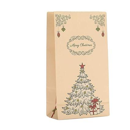 Cadeau De Noel Classe.Sacs Cadeaux Kraft De Noël Avec Des Imprimés De Noël