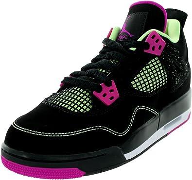 Nike Air Jordan 4 Retro 30Th GG, Zapatillas de Running para Mujer, Negro/Rosa/Blanco (Black/Fuchsia Flash-Lqd LM-Wht), 42 1/2 EU: Amazon.es: Zapatos y complementos