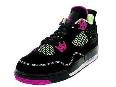 the latest 0b82b 10b04 Jordan Nike Kids Air 4 Retro 30th GG Black/Fushsia Flash/Lqd Lm/Wht  Basketball Shoe 6.5 Kids US