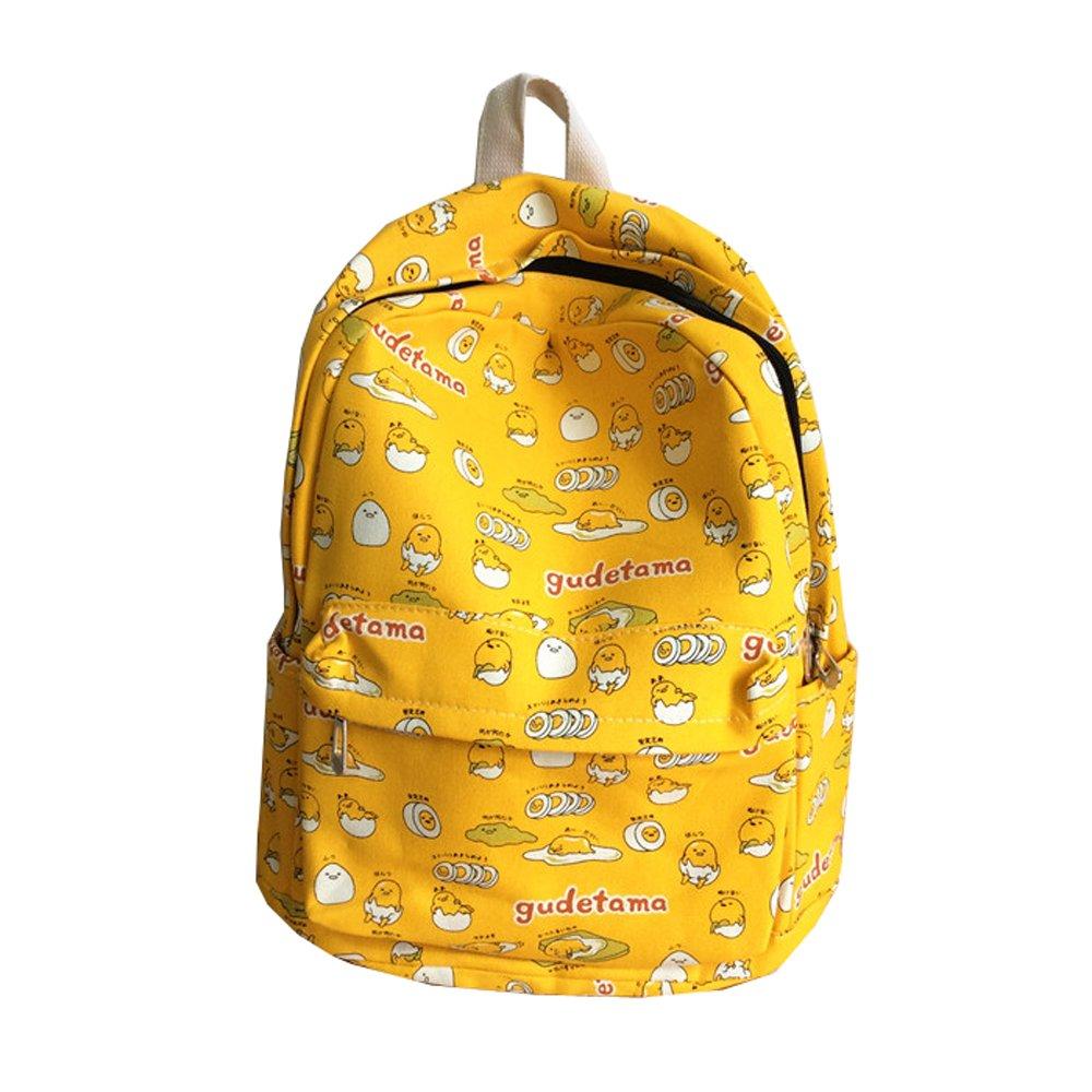 Gudetama School Backpack Bag Unisex College Bookbag (yellow) by PWXH