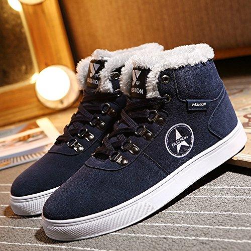 3 uomo Piastra High UK6 Blu dimensioni colori scarpe Scarpe Colore FEIFEI Le sportive CN40 Help calzature 5 Nero da Winter Fashion EU39 vqXW7p